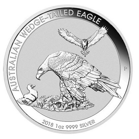 Moneta srebrna 1oz Australijski Orzeł / Wedge-Tailed Eagle 2018