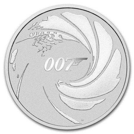 moneta srebrna 007 - James Bond 1oz 2020 (24h)
