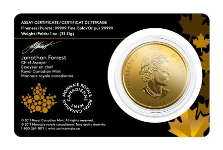moneta złota Golden Moose 2019 - Złoty Łoś 1oz